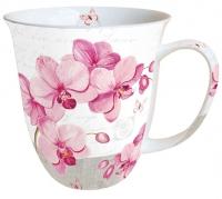 Porzellan-Henkelbecher Mug 0.4 L Orchids With Love