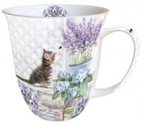 Porzellan-Henkelbecher Mug 0.4 L Kitten