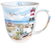 Porzellan-Tasse - Robben am Strand