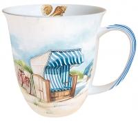 Porzellan-Tasse - Tag am Strand