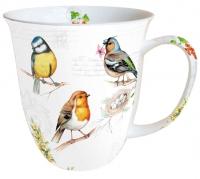 Porzellan-Tasse - Vögel auf dem Zweig