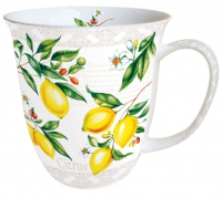 Porzellan-Tasse - Citrus