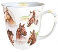 Porzellan-Tasse Horse Range