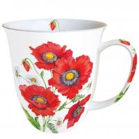 Porzellan-Tasse -  0.4 L Poppy Scene