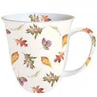 Porzellan-Tasse - Fallende Blätter