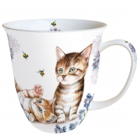 Porzellan-Tasse - Cats And Bees