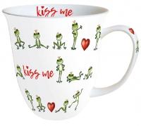 Porzellan-Tasse - Kiss Me