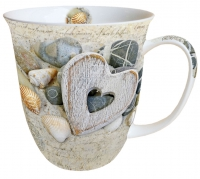 Porzellan-Tasse - Hearts And Stones