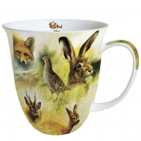 Porzellan-Tasse - Wild Animals Collage