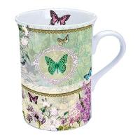 Porzellan-Tasse Butterfly Medaillon