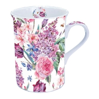 Porzellan-Tasse Flower Composition White