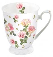 Porzellan-Tasse - Rosie Weiß