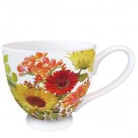 Porzellan-Tasse - Sunny Flowers Cream