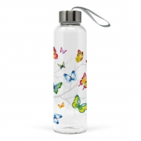 Glasflasche - Colourful Butterflies