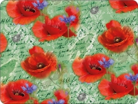 Tischsets - Painted Poppies Green
