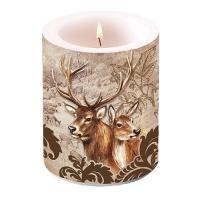 Dekorkerze - Deer Couple Brown