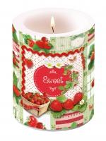 Dekorkerze Candle Big Sweet Strawberries