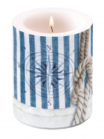 Dekorkerze Candle Big Compass And Rope