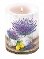 Dekorkerze Lavender