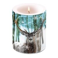 Dekorkerze - Winter Deer