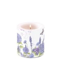 Dekorkerze Purple Wildflowers