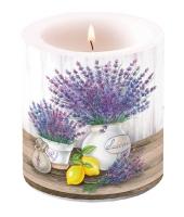 Dekorkerze klein Lavender