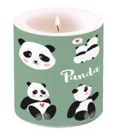 Dekorkerze klein - Panda Bears