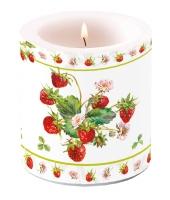 Dekorkerze klein - Fresh Strawberries