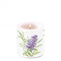 Dekorkerze klein - Lilac White