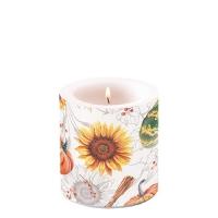 Dekorkerze klein - Pumpkins & Sunflowers