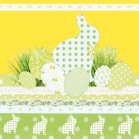 Servietten 33x33 cm - A Touch Of Easter Yellow