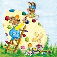 Lunch Servietten Painting an Egg