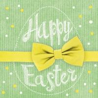 Lunch Servietten Happy Easter Yellow