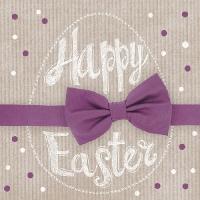 Lunch Servietten Happy Easter Bordeaux