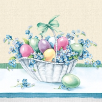 Servietten 33x33 cm - Eastereggs In Bucket Yellow