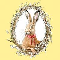 Servietten 33x33 cm - Bunny Portrait Yellow