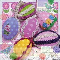 Servietten 33x33 cm - Eggs With Ribbon
