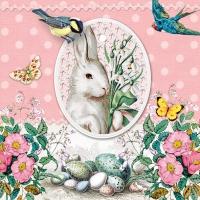 Servietten 33x33 cm - White Rabbit Rose