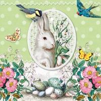 Servietten 33x33 cm - White Rabbit Green