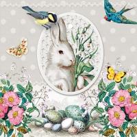 Servietten 33x33 cm - White Rabbit Grey