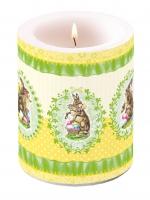 Kerze Nostalgic Easter Yellow