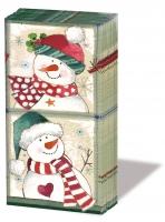 Taschentücher Happy Snowmen