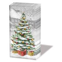 Taschentücher - Baum auf dem Quadrat