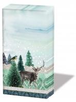 Taschentücher - Deer Winterscene