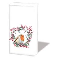Taschentücher - Robin In Wreath