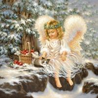 Servietten 25x25 cm - Kleiner Engel