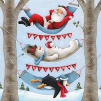 Servietten 25x25 cm - Entspannende Weihnachten