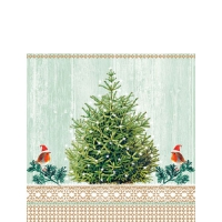 Servietten 25x25 cm - Little Robins