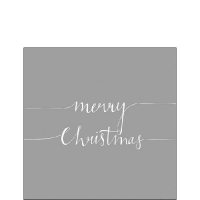 Servietten 25x25 cm - Christmas Note Silver
