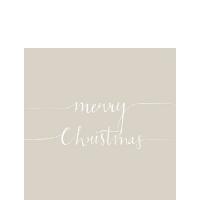 Servietten 25x25 cm - Christmas Note Stone